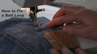 J Stern Designs l Quick Tip:  How to fix a belt loop that