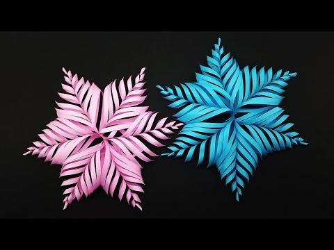 DIY 3D Paper Snowflake Make for Christmas Decor - Christmas Snowflake Crafts