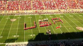9-15 Stanford marching band performs the National Anthem