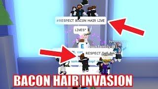 BACON HAIRS TAKE OVER ADOPT ME | Roblox Bacon Hair Jailbreak