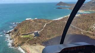 9/10/17 Aerial  Footage Calabash Boom to Lameshur Bay St John USVI after Hurricane Irma