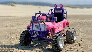 450cc Barbie Jeep Hits The Dunes