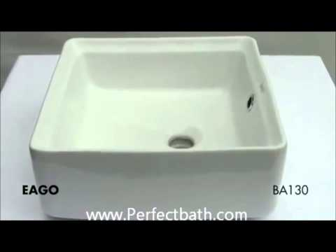 Bathroom Sinks Top Mount ba130 topmount vessel bathroom sink www.perfectbath - youtube