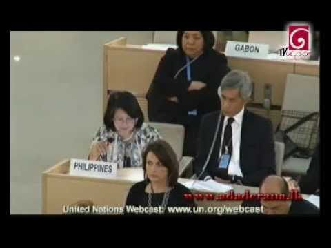 Philippines speaking at the UNHRC