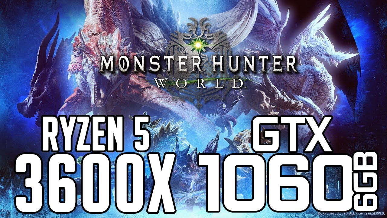 Monster Hunter World on Ryzen 5 3600x + GTX 1060 6gb 1080p Benchmarks!