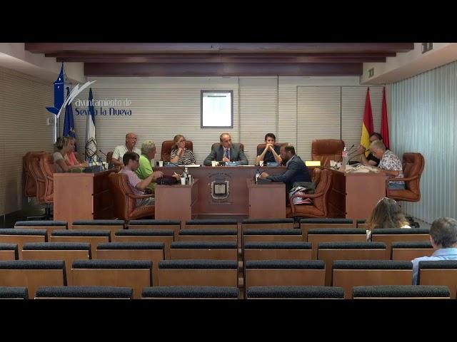 Pleno Extraordinario del 17 de julio de 2019 en Sevilla la Nueva