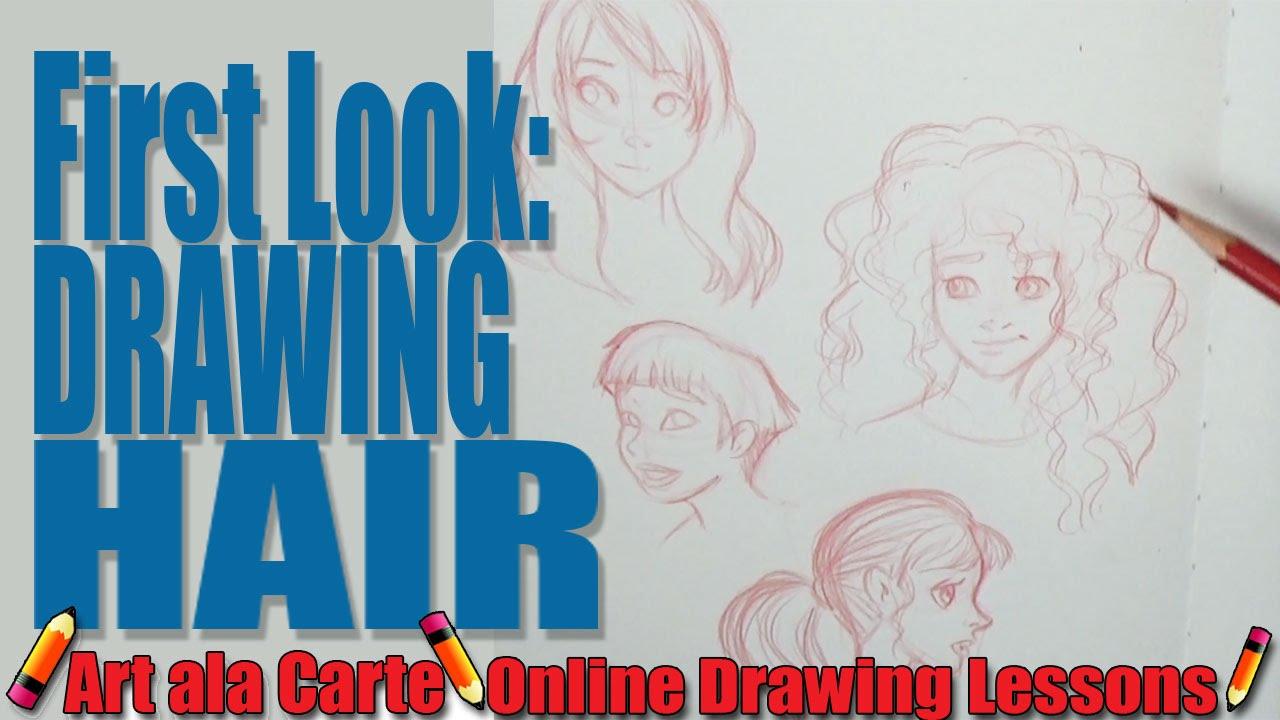 drawing short curlie wavy