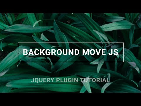 Background move on mouse over | Jquery plugin tutorial