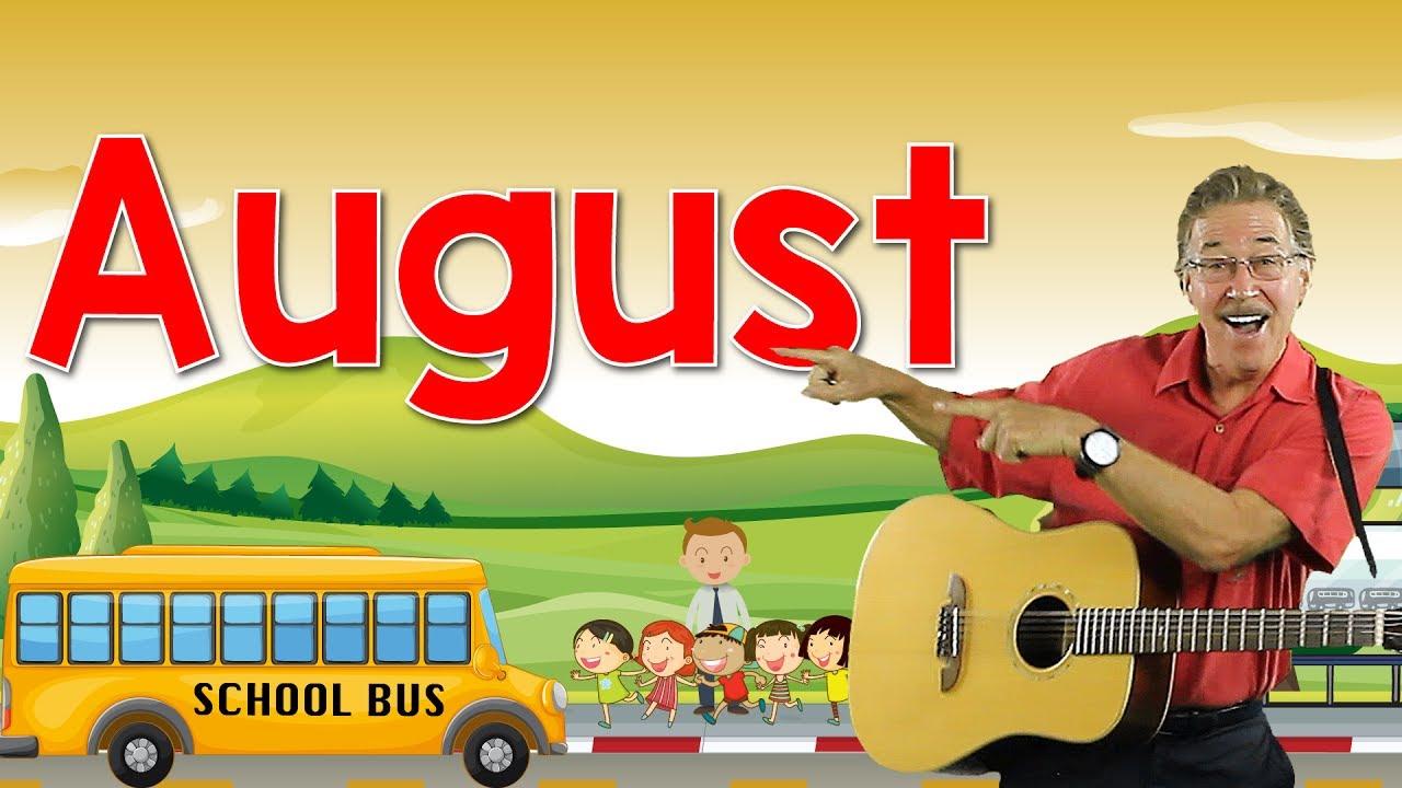 Download August | Back to School Song | Calendar Song for Kids | Jack Hartmann