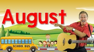 August | Back to School Song | Calendar Song for Kids | Jack Hartmann