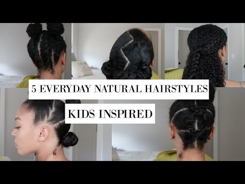 5 Fun, Everyday Hairstyles for Natural Hair | Kids' Hairstyles Inspired!