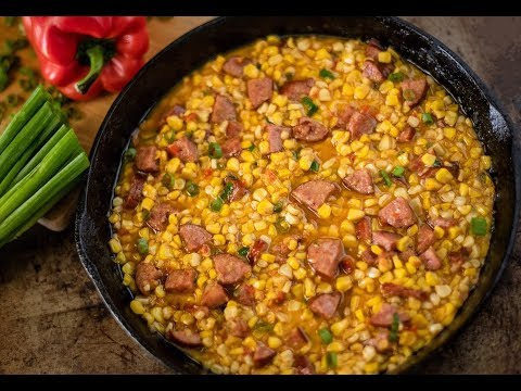 HOW TO MAKE JAZZED UP CAJUN CORN! | CORN MAQUE CHOUX RECIPE