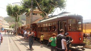 HD Orange Blossom Tram Express, Port of Sóller + Palma Aquarium in Mallorca Spain, Holiday 2014