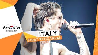 Måneskin - Zitti E Buoni - First Rehearsal - Italy 🇮🇹 - Eurovision 2021