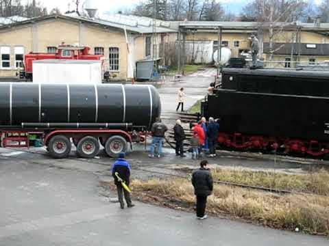 """BR 41 018 Der DG (Bahnpark Augsburg) Beim """"Tanken"""""""