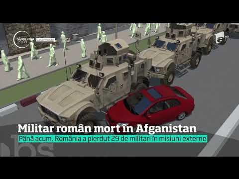 Militar român mort în Afganistan. O maşină capcană a intrat în blindatul în care era cu alţi