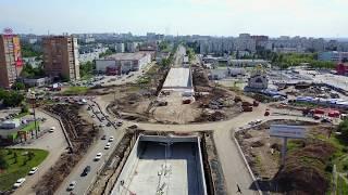 Реконструкция Московского шоссе пр. Кирова 14.06.2017 (Самара) 4K