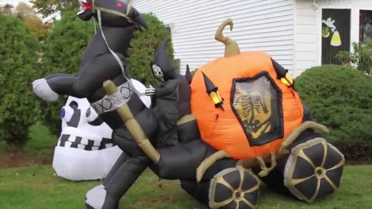 my airblown inflatable and halloween decorations display 2014 youtube