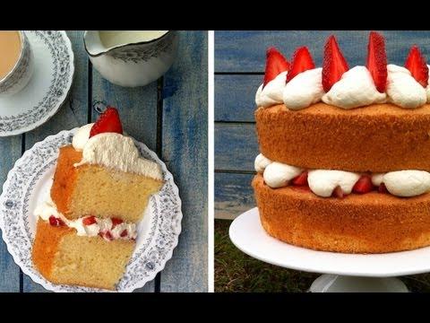 Sponge Cake Recipe Fluffy Moist HOW TO COOK THAT Ann Reardon Victoria Sponge Chiffon Cake