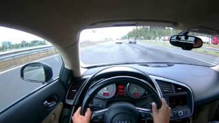 POV 2007 Audi R8 V8 420hp - Test drive