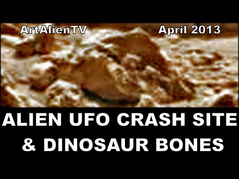Alien UFO Crash Site & Dinosaur Bones: MARS. ArtAlienTV - 720p