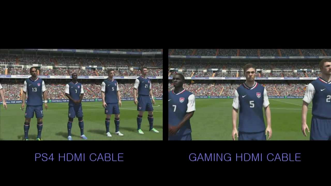 Ps4 Playstaion 4 Fifa 14 Gameplay 1080p Hdmi Cable