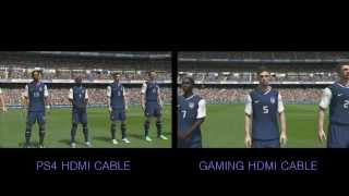PS4 Playstaion 4 FIFA 14 gameplay 1080p HDMI cable comparison