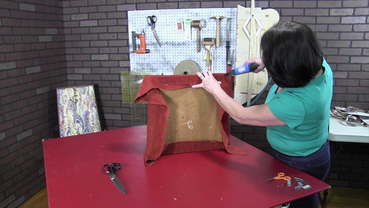 how to upholster a dining room chair part 2 youtube