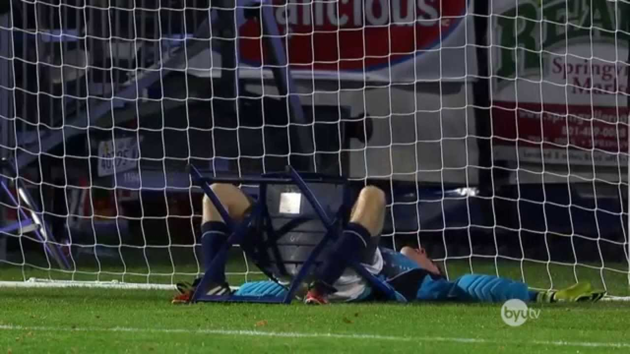 Goal keeper gets hit in the face by every penelty kickbut