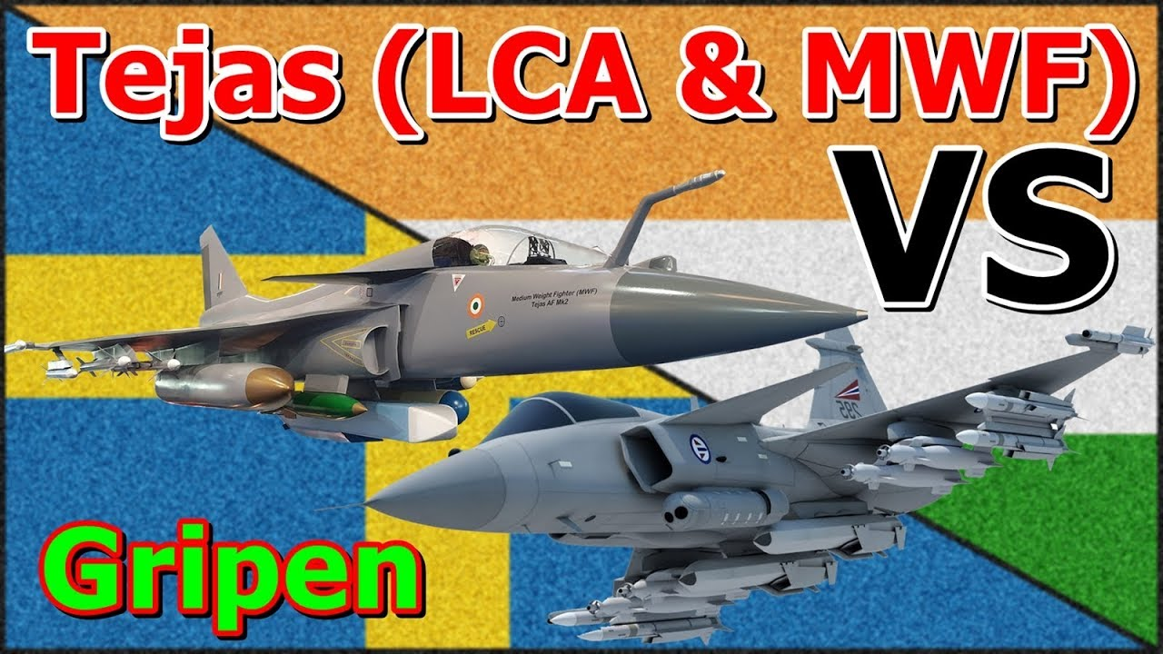 Swedish JAS-39C/D Gripen Vs Indian LCA Tejas & MWF (Medium Weight Fighter)