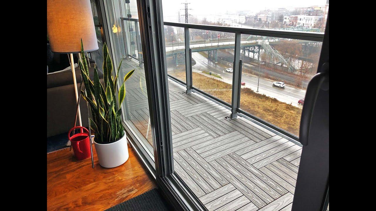 Silver Composite Tiles On Toronto Terrace Outdoor Floors