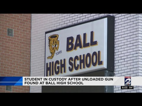 Student in custody after unloaded gun found at Ball High School