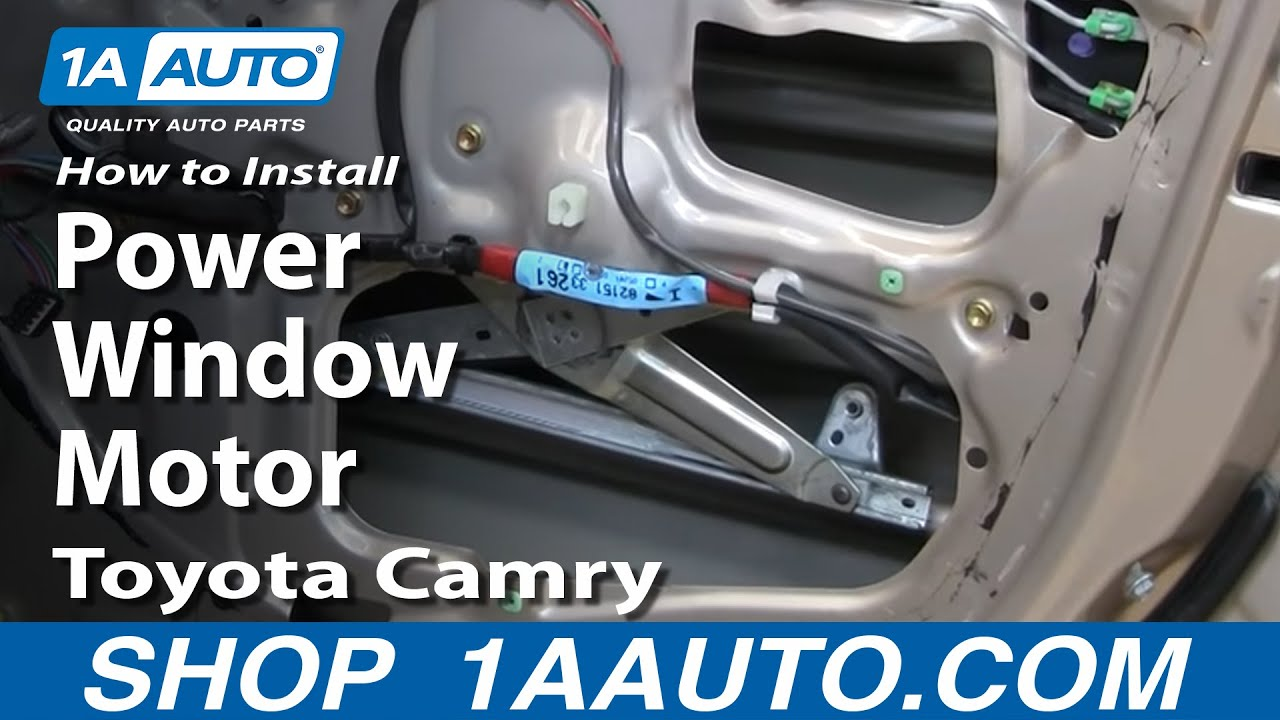 How To Replace Window Motor 83 01 Toyota Camry