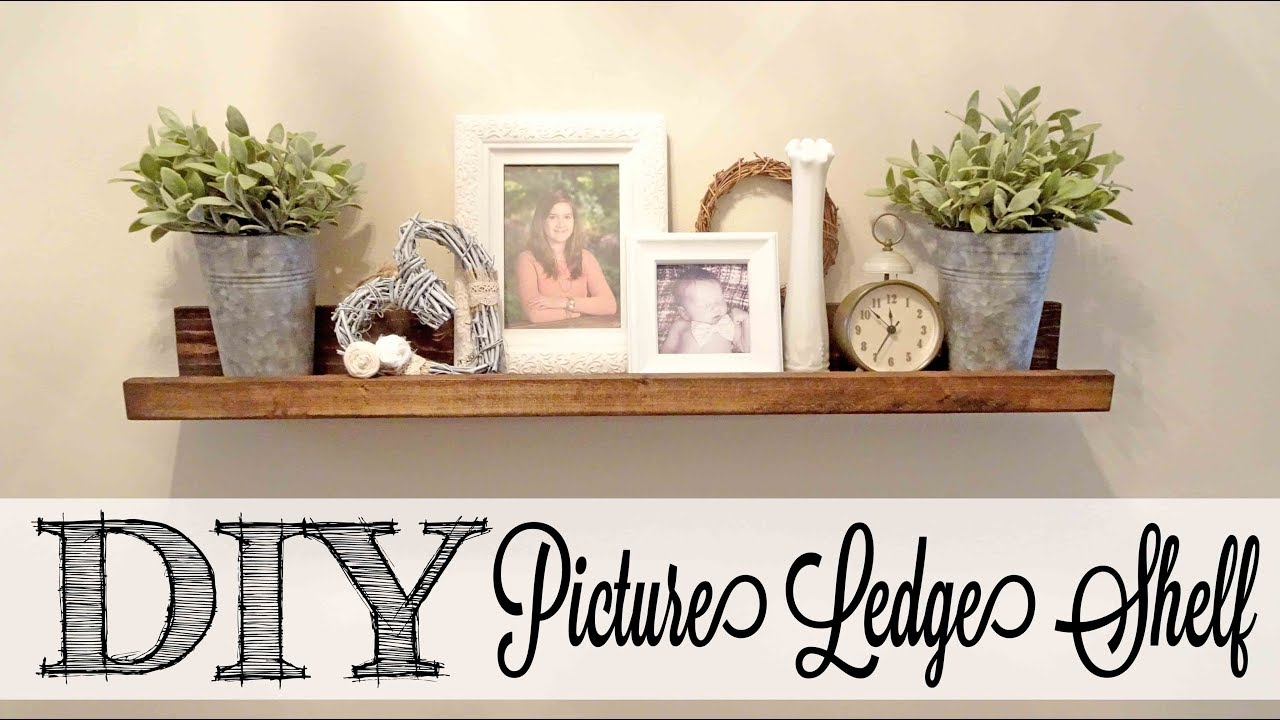 DIY Picture Ledge Shelf