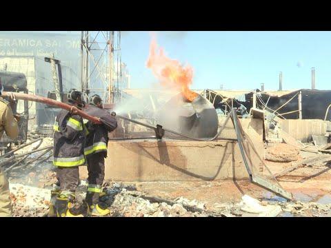 苏丹陶瓷厂油罐车爆炸引发大火 23人遇难