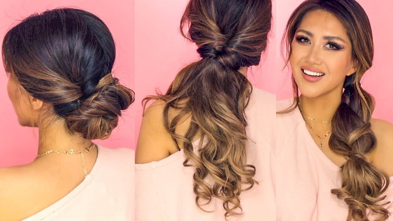 long hair everyday styles 1 minute lazy hairstyles easy everyday updos for 4269 | maxresdefault