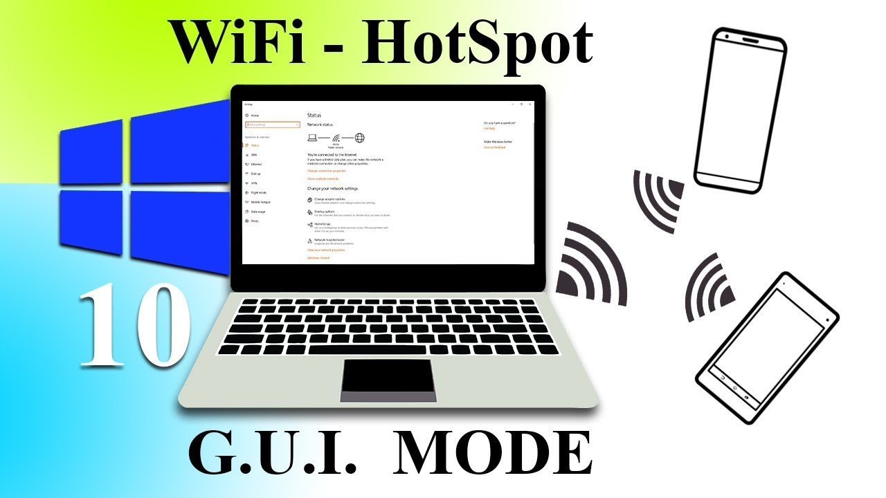 Turn PC into WiFi HotSpot - Windows 10 | GUI Mode - YouTube
