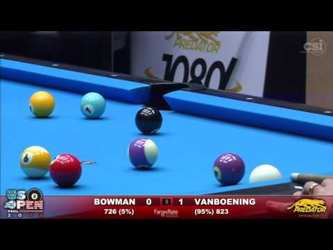2016 US Open 8-Ball: Jesse Bowman vs Shane Van Boening