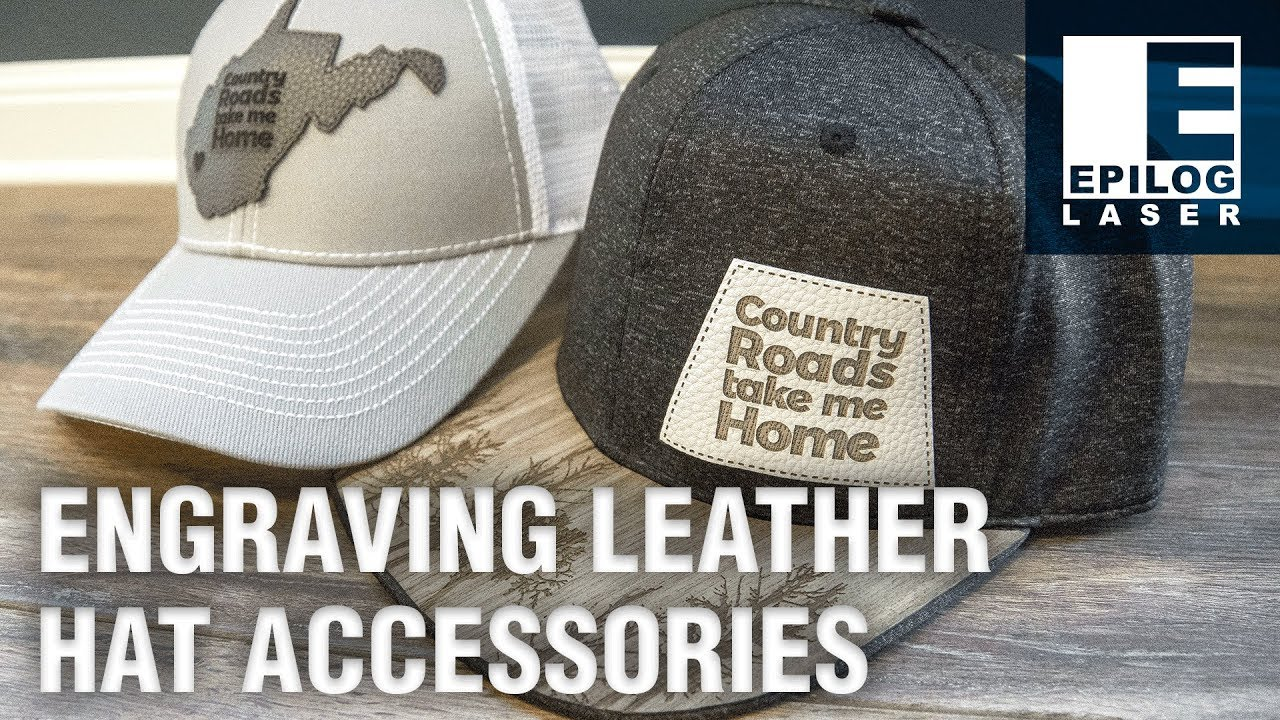 d3cee35f Laser Engraving Leather Hat Accessories - YouTube