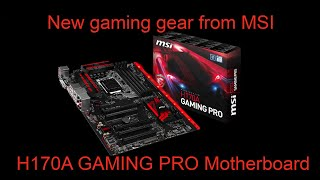 mSI H170A Gaming Pro LED