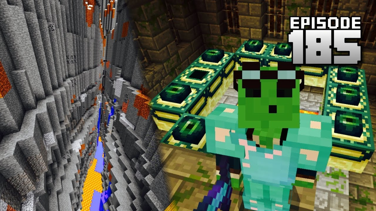 Lets Play Minecraft PE Ep END PORTALLargest Ravine Ever - Minecraft trophae spiele 100 tage