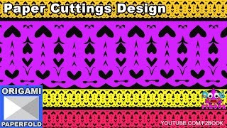 87 Paper cutting design Easy paper craft tutorial || Room Decor Diy Ideas || F2BOOK Video 87