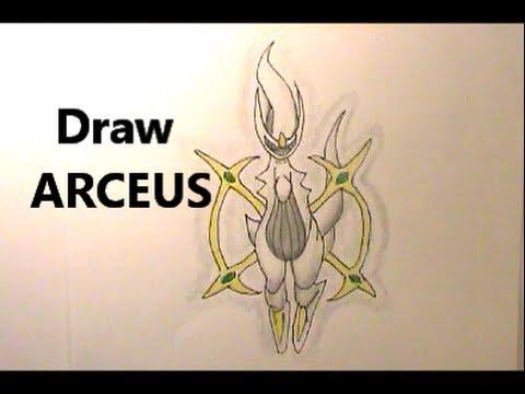 Yikes Arceus Draw Legendary Pokemon No 493 Tutorial Youtube
