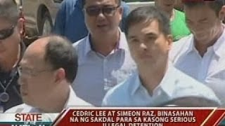 SONA: Cedric Lee at Zimmer Raz, binasahan na ng sakdal