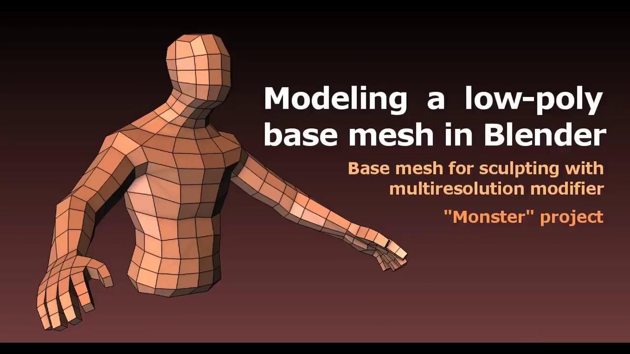 Modeling a Low Poly Base Mesh in Blender   CGTrader