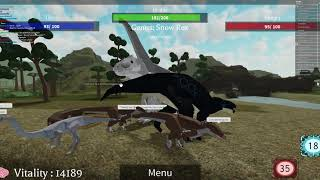 Playing as the Indominus Rex + Bean?????? | Dinos World Roblox