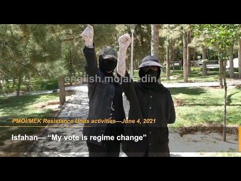 MEK Resistance Units put up posters calling for Iran election boycott