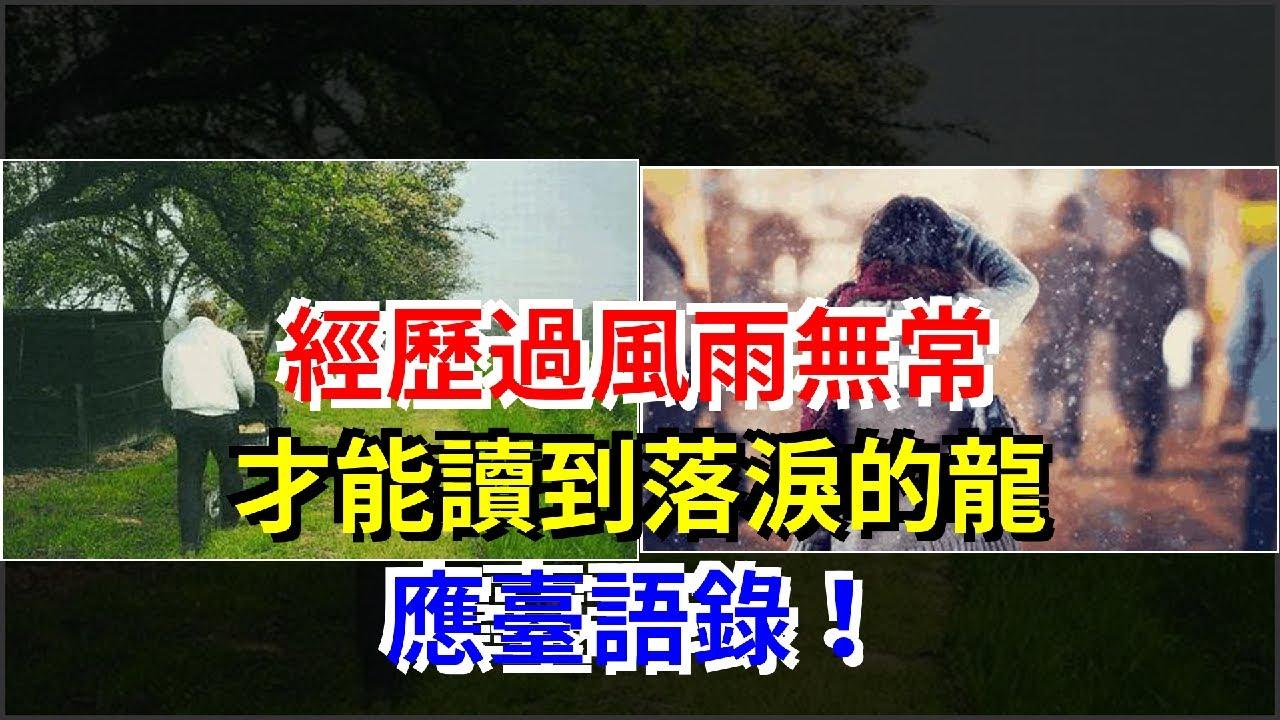 經歷過風雨無常,才能讀到落淚的龍應臺語錄!,[心靈驛站] - YouTube