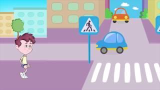 Правила дорожного движения (ПДД) 🚗 для детей в стихах. 🚦 Развивающий мультик. Урок 21