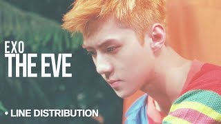 Video EXO (엑소) - The Eve : Line Distribution (Color Coded) download MP3, 3GP, MP4, WEBM, AVI, FLV Agustus 2018